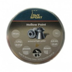 Balines H&N Hollow Point 6,35 Lata 200Unid.