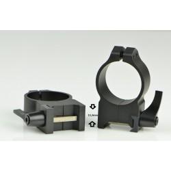 Anillas WARNE Serie Maxima Acero 30mm Altas Desmontable