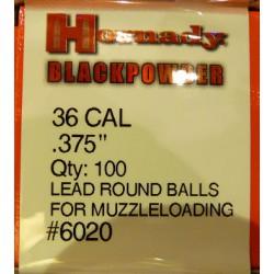 Bolas Hornady 36Cal.(.375)