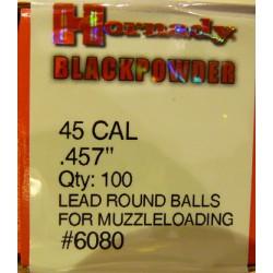 Bolas Hornady 45 Cal. (.457) Caja 100und.