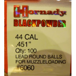Bolas Hornady 44 Cal. (.451) Caja 100und.