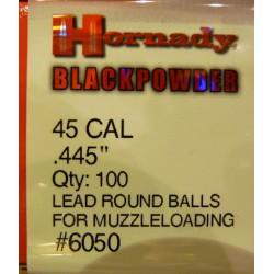 Bolas Hornady 45 Cal. (.445) Caja 100und.