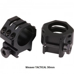 Anillas Weaver TACTICAL 30mm Matte.
