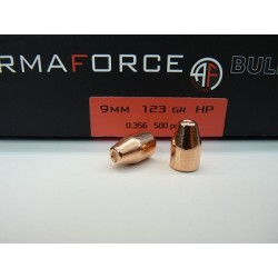 Puntas Armaforce 9mm(.356) 123 HP Cobreado