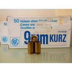 Vainas GECO 9mm Corto  Caja de 50Und.