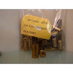 Vainas STR Cal. 9mm Makarov Bolsa de 50Und.