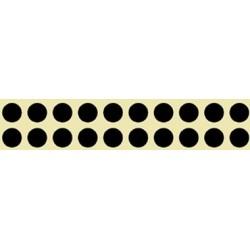 ROLLO PARCHES NEGROS 15mm 2000und.