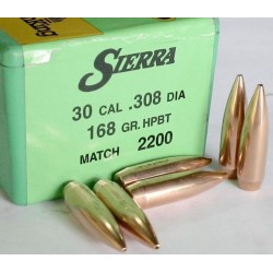 PUNTAS SIERRA 30-168 HPBT MATCH KING
